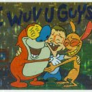 Ren and Stimpy 1993 #41 Sticker Puzzle Trading Card