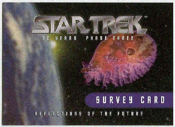 Star Trek Phase 3 30th Anniversary Survey Trading Card