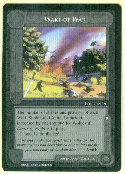 Middle Earth Wake Of War Uncommon Wizards Limited BB Game Card