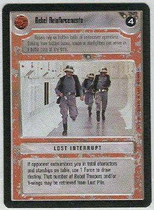 Star Wars CCG Rebel Reinforcements Premiere Game Card
