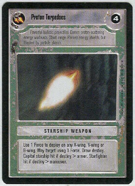 Star Wars CCG Proton Torpedoes LS Premiere Limited Game Card Unplayed