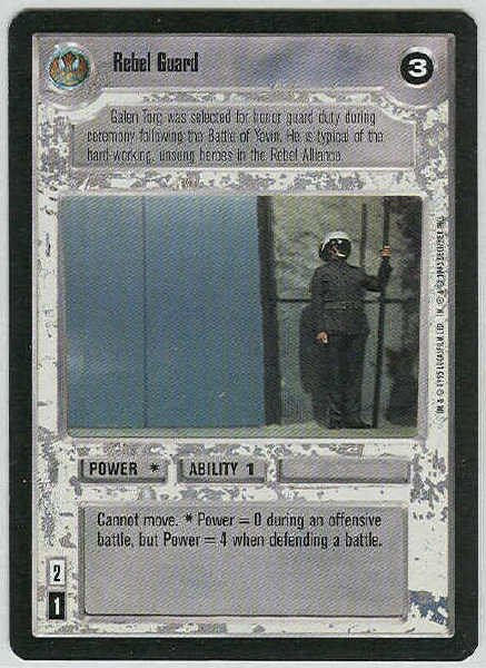 Star Wars CCG Rebel Guard LS Premiere Limited Game Card Unplayed