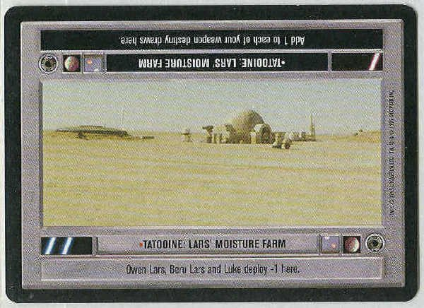 Star Wars CCG Tatooine Lars' Moisture Farm Light Side Card