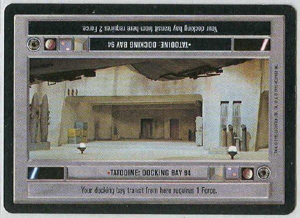 Star Wars CCG Tatooine Docking Bay 94 Light Side Card