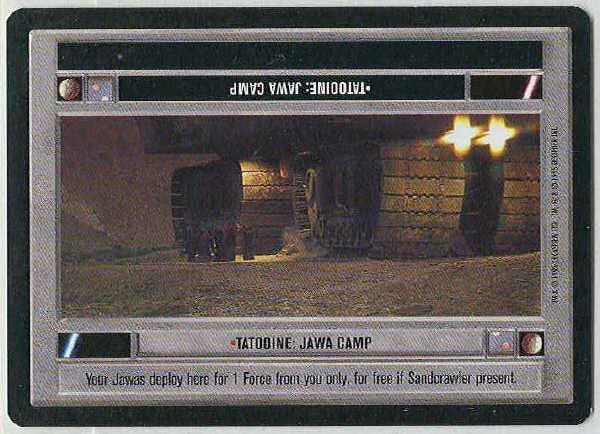 Star Wars CCG Tatooine Jawa Camp LS Game Card Unplayed