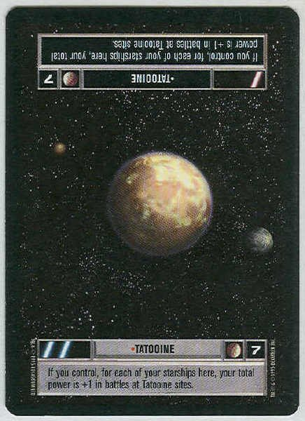 Star Wars CCG Tatooine LS Premiere Limited Game Card Unplayed