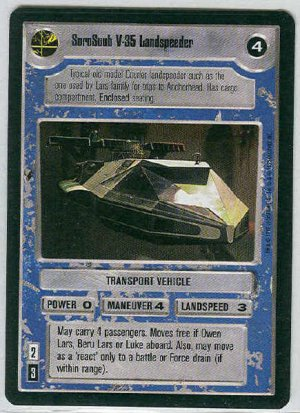 Star Wars CCG SoroSuub V-35 Landspeeder Game Card