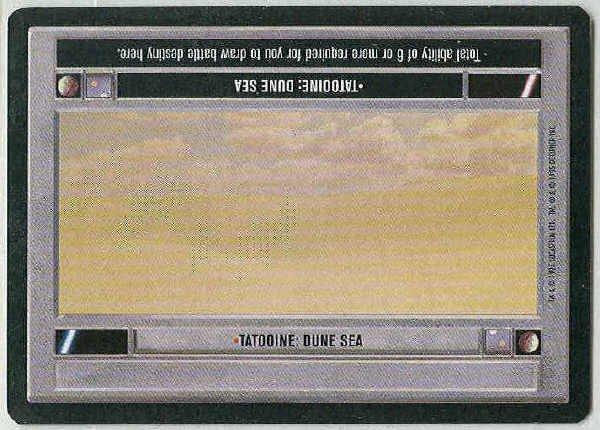 Star Wars CCG Tatooine Dune Sea Premiere Game Card