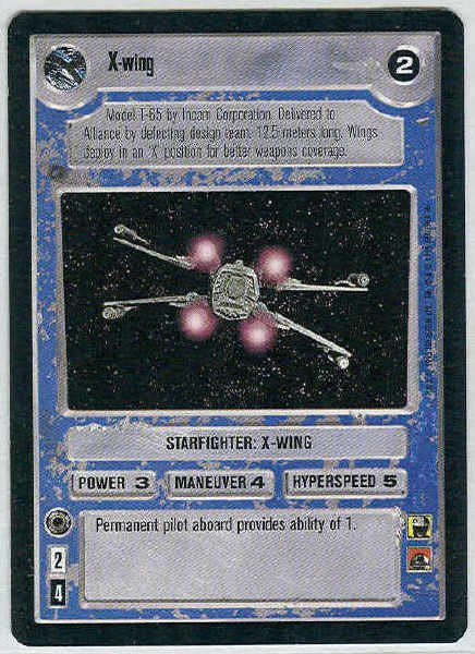 Star Wars CCG X-wing Premiere Limited LS Game Card