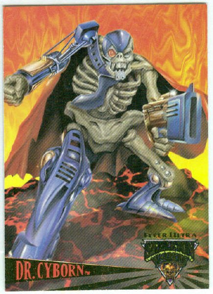 Skeleton Warriors Dr. Cyborn Promo Trading Card