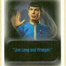 Star Trek Quotable #P2 Promo Trading Card Spock