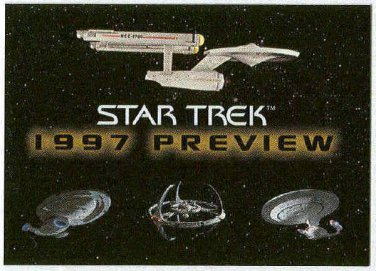 Star Trek Voyager Season 2 1997 Preview Promo Trading Card