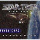 Star Trek 30th Anniversary Phase 1 Survey Trading Card