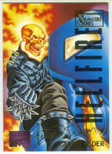 Marvel Masterpieces 1995 Emotion #39 Gold Foil Card Ghost Rider