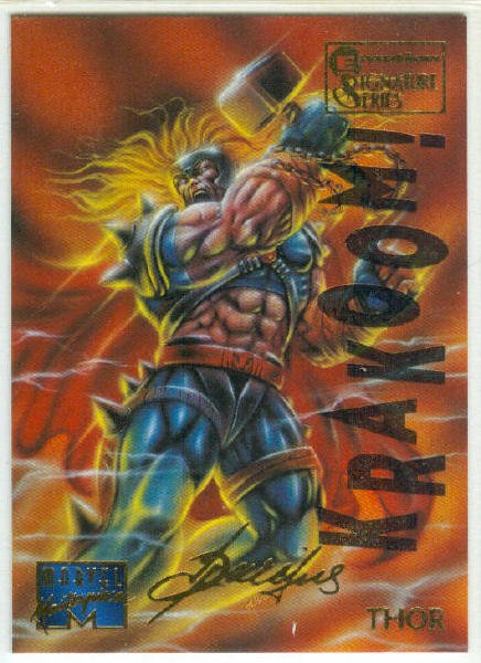 Marvel Masterpieces 1995 Emotion #104 Gold Foil Card Thor
