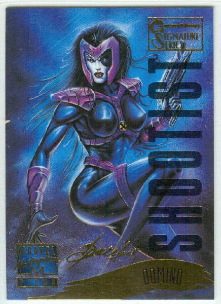 Marvel Masterpieces 1995 Emotion #122 Gold Foil Card Domino