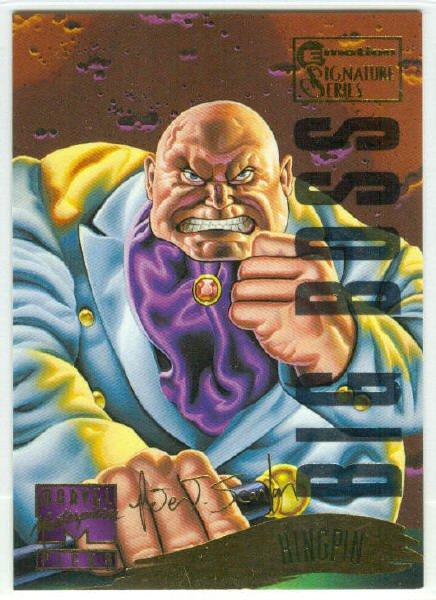 Marvel Masterpieces 1995 Emotion #129 Gold Foil Card Kingpin