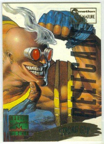 Marvel Masterpieces 1995 Emotion #148 Gold Foil Card Strong Guy
