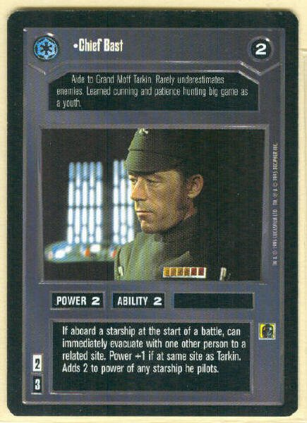 Star Wars CCG Chief Bast Uncommon DS Limited Game Card Unplayed