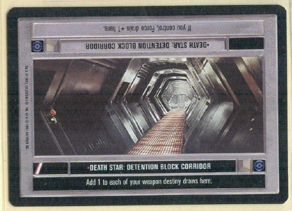 Star Wars CCG Death Star Detention Block Corridor Card