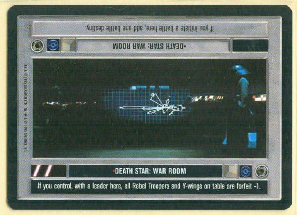 Star Wars CCG Death Star War Room Uncommon DS Game Card Unplayed