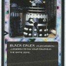 Doctor Who CCG Black Dalek Rare Black Border Game Card
