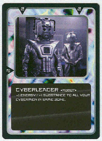 Doctor Who CCG Cyberleader Rare Black Border Game Card