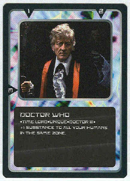 Doctor Who CCG Doctor Who III Rare Game Card Jon Pertwee