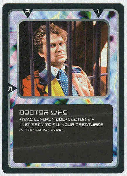 Doctor Who CCG Doctor Who VI Rare Game Card Colin Baker