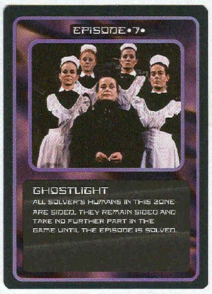 Doctor Who CCG Ghostlight Rare Black Border Game Card
