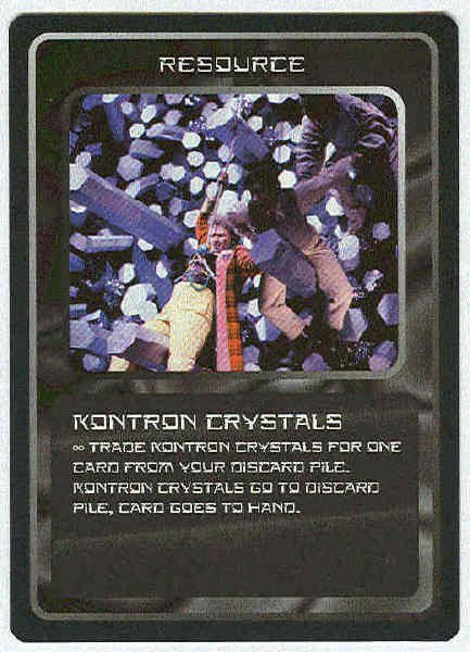 Doctor Who CCG Kontron Crystals Rare Game Trading Card