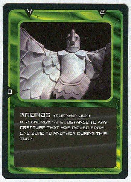 Doctor Who CCG Kronos Rare Black Border Game Card