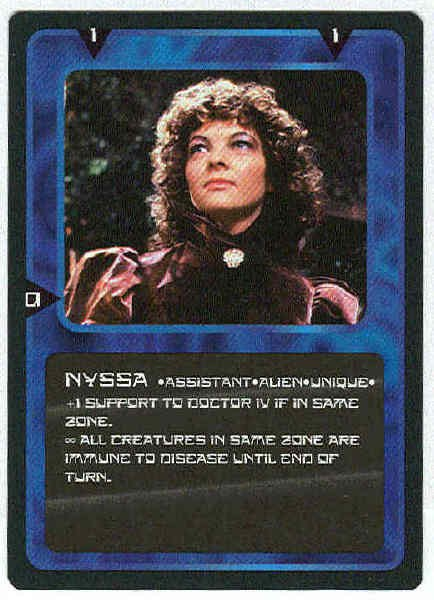 Doctor Who CCG Nyssa Rare Black Border Game Card Sarah Sutton