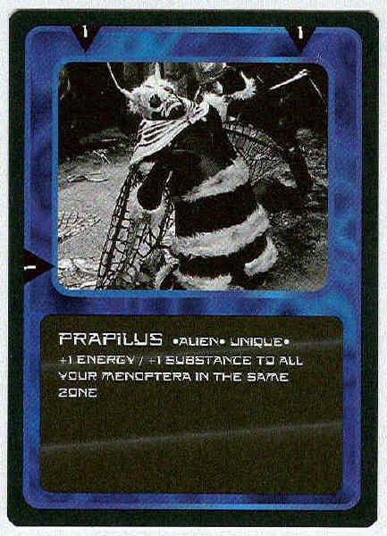 Doctor Who CCG Prapilus Rare Black Border Game Card