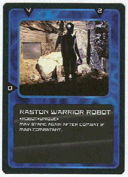 Doctor Who CCG Raston Warrior Robot Rare Black Border Game Card