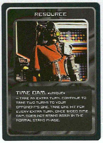 Doctor Who CCG Time Dam Rare Black Border Game Card