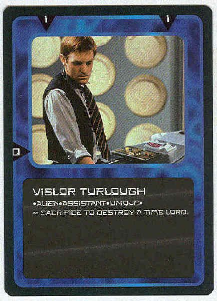 Doctor Who CCG Vislor Turlough Rare Card Mark Strickson