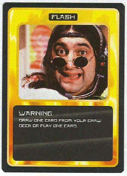 Doctor Who CCG Warning Rare Black Border Game Card
