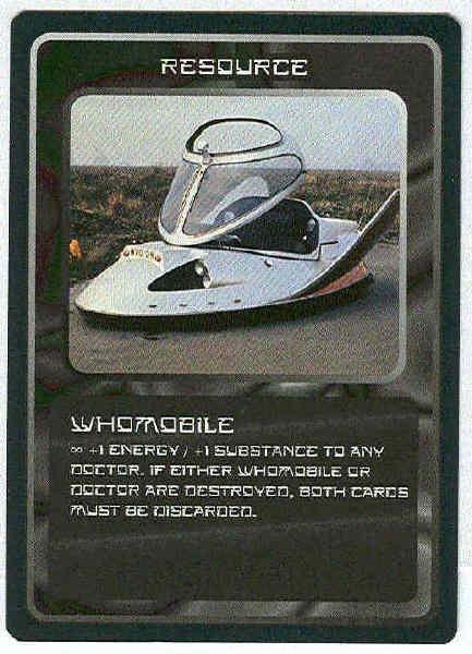Doctor Who CCG Whomobile Rare Black Border Game Card