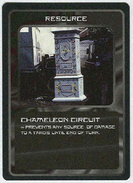 Doctor Who CCG Chameleon Circuit Black Border Game Card