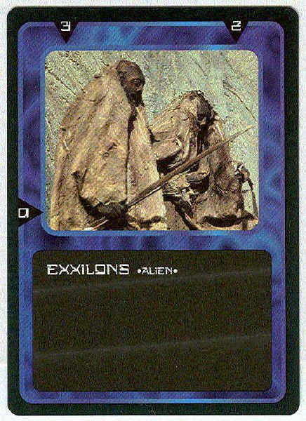 Doctor Who CCG Exxilons Black Border Game Trading Card