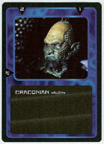 Doctor Who CCG Draconian Black Border Game Trading Card