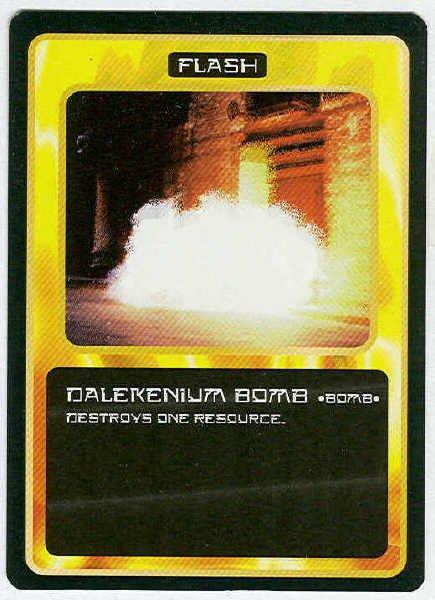 Doctor Who CCG Dalekenium Bomb Black Border Game Card