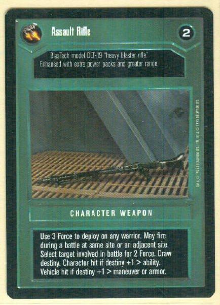 Star Wars CCG Assault Rifle Premiere Rare Game Card Unplayed
