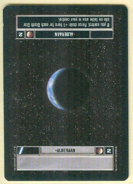 Star Wars CCG Alderaan Rare DS Premiere Limited Game Card Unplayed