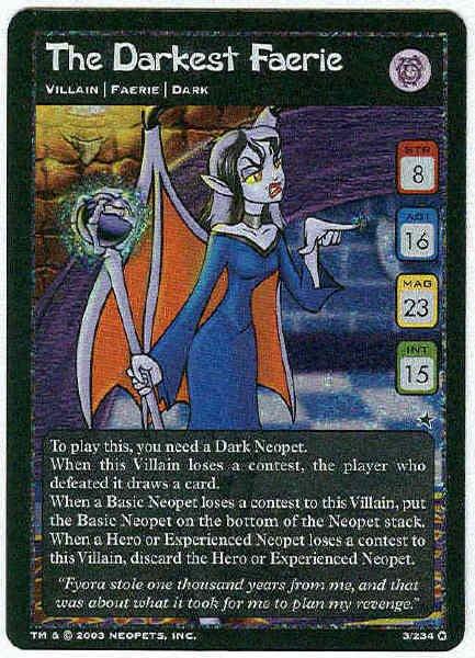 Neopets #3 The Darkest Faerie Holo Foil Card Unplayed