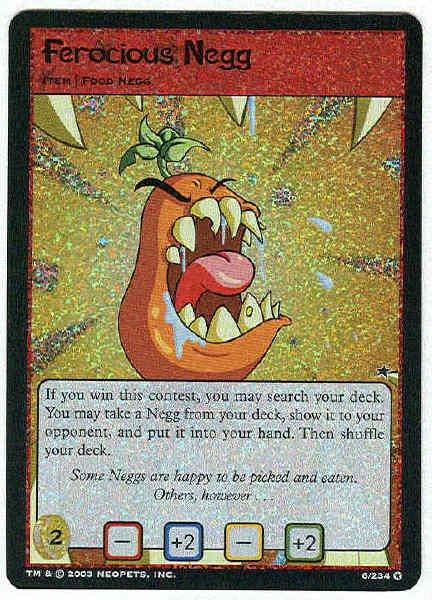 Neopets CCG Base Set #6 Ferocious Negg Holo Foil Card