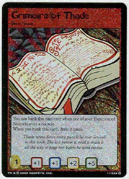 Neopets CCG Base Set #11 Grimoire Of Thade Holo Foil Card