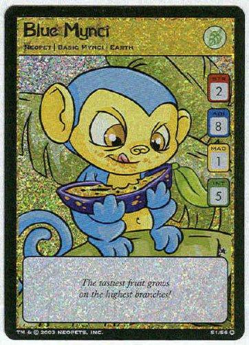 Neopets CCG Base Set #S1/S6 Blue Mynci Holo Foil Card