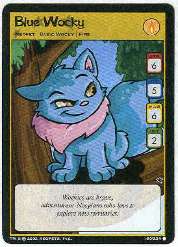 Neopets CCG Base Set #160 Blue Wocky Game Card